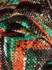 画像13: ジグザグ柄 マルチカラー レトロ ヨーロッパ古着 長袖 シャツ ヴィンテージブラウス【7039】 (13)