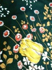 画像10: 花柄 ボタニカル柄 グリーン レトロ ヨーロッパ古着 ヴィンテージスカート【7045】 (10)