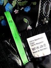 画像12: ドイツ製 花柄 ブラック 黒 レース ウエストゴム クラシカル チロルスカート ドイツ民族衣装 舞台 演劇 演奏会 フォークダンス オクトーバーフェスト【7046】 (12)
