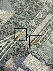 画像20: 幾何学模様織り 西ドイツ製 グレー ドルマンスリーブ ハイネック ウエストリボン 長袖 レトロ ヨーロッパ古着 ヴィンテージオールインワン【7047】 (20)