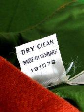 画像16: デンマーク製 ウール グリーン オレンジ バイカラー 半袖 レトロ ヨーロッパ古着 ヴィンテージワンピース【7051】 (16)