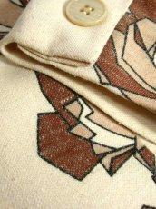 画像12: 花柄 ベージュ 70's 昭和レトロ 国産古着 ヴィンテージジャケット【7052】 (12)