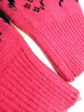 画像16: トナカイ模様 ピンク ガーリー 昭和レトロ 国産古着 ヴィンテージニットセーター【7053】 (16)