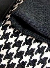 画像16: 千鳥格子柄 ホワイト ブラック モノクロ バックル付 70's 昭和レトロ 国産古着 ヴィンテージジャケット【7057】 (16)