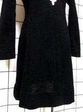 画像12: フォークロア 刺繍 ブラック 長袖 レトロ ヨーロッパ古着 ヴィンテージワンピース【7080】 (12)