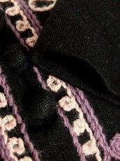 画像14: フォークロア 刺繍 ブラック 長袖 レトロ ヨーロッパ古着 ヴィンテージワンピース【7080】 (14)