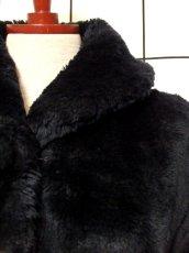 画像9: フェイクファー オーバーサイズ ブラック 黒 クラシカル 昭和レトロ 国産古着 ヴィンテージコート【5703】 (9)