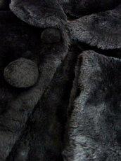画像15: フェイクファー オーバーサイズ ブラック 黒 クラシカル 昭和レトロ 国産古着 ヴィンテージコート【5703】 (15)