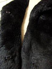 画像12: フェイクファー オーバーサイズ ブラック 黒 クラシカル 昭和レトロ 国産古着 ヴィンテージコート【5703】 (12)
