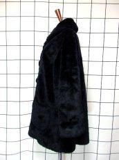 画像6: フェイクファー オーバーサイズ ブラック 黒 クラシカル 昭和レトロ 国産古着 ヴィンテージコート【5703】 (6)