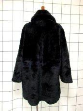 画像5: フェイクファー オーバーサイズ ブラック 黒 クラシカル 昭和レトロ 国産古着 ヴィンテージコート【5703】 (5)