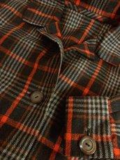 画像11: チェック柄 ブラウン オレンジ 70's 昭和レトロ 国産古着 レトロジャケット【2139】 (11)