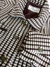 画像13: ブラウン ホワイト ウール 70's 昭和レトロ 国産古着 ヴィンテージジャケット【3767】 (13)