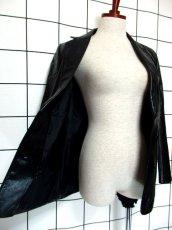 画像10: レザー ブラック 黒 昭和レトロ 国産古着 ヴィンテージジャケット【615】 (10)