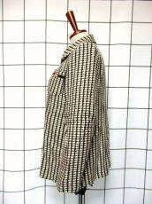 画像6: ブラウン ホワイト ウール 70's 昭和レトロ 国産古着 ヴィンテージジャケット【3767】 (6)