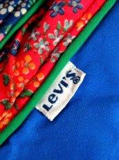 画像15: Levi's リーバイス ブルー 小花柄切り替し レトロ USA古着 ヴィンテージアウター【1893】 (15)