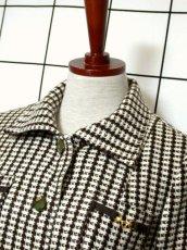 画像8: ブラウン ホワイト ウール 70's 昭和レトロ 国産古着 ヴィンテージジャケット【3767】 (8)