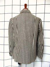 画像5: ブラウン ホワイト ウール 70's 昭和レトロ 国産古着 ヴィンテージジャケット【3767】 (5)