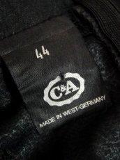 画像20: 西ドイツ製 ドット柄 レース ブラック 黒 ウエストゴム クラシカル パーティースタイル ヨーロッパ古着 ヴィンテージオールインワン【7100】 (20)