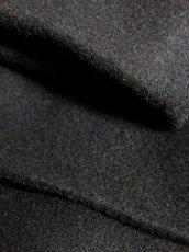 画像12: 大きな襟 ブラック 80〜90's レトロ 国産古着 ヴィンテージコート【7107】 (12)