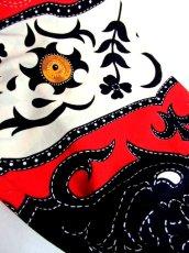 画像14: 大きなフリル襟 レッド ホワイト フォークロア レトロ ヨーロッパ古着 ヴィンテージブラウス【2783】 (14)