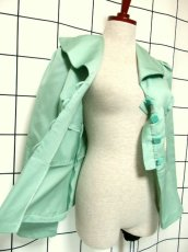 画像9: ペプラムデザイン アンティークフラワーレース装飾 大きな襟 レトロ ヨーロッパ古着 ヴィンテージジャケット【2230】 (9)