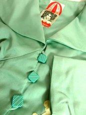 画像10: ペプラムデザイン アンティークフラワーレース装飾 大きな襟 レトロ ヨーロッパ古着 ヴィンテージジャケット【2230】 (10)