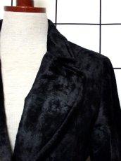 画像10: ベルベット 70's ブラック 黒 クラシカル 昭和レトロ 国産古着 ヴィンテージコート【3939】 (10)