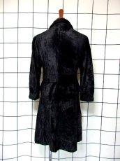 画像5: ベルベット 70's ブラック 黒 クラシカル 昭和レトロ 国産古着 ヴィンテージコート【3939】 (5)