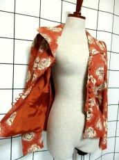 画像12: 薔薇柄 大きな襟 レトロ ヨーロッパ古着 ヴィンテージジャケット【2586】 (12)