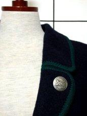 画像9: オーストリア製 GIESSWEIN ネイビー フォークロア レトロ ヨーロッパ古着 長袖 チロルコート【3676】 (9)