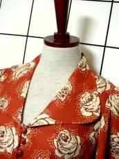 画像9: 薔薇柄 大きな襟 レトロ ヨーロッパ古着 ヴィンテージジャケット【2586】 (9)