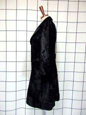 画像7: ベルベット 70's ブラック 黒 クラシカル 昭和レトロ 国産古着 ヴィンテージコート【3939】 (7)