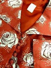 画像13: 薔薇柄 大きな襟 レトロ ヨーロッパ古着 ヴィンテージジャケット【2586】 (13)