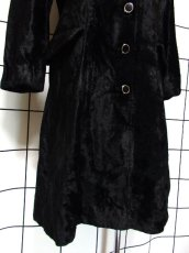 画像12: ベルベット 70's ブラック 黒 クラシカル 昭和レトロ 国産古着 ヴィンテージコート【3939】 (12)