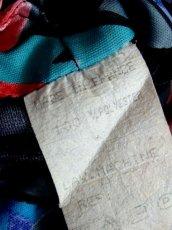 画像20: フランス製 80's ブルー ブラック レトロ 長袖 ヨーロッパ古着 ヴィンテージドレス 【4885】 (20)