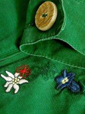 画像14: 刺繍 グリーン ウッド調ボタン ディアンドル チロルブラウス ドイツ民族衣装 舞台 演奏会 フォークダンス オクトーバーフェスト【7234】 (14)