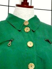 画像3: 刺繍 グリーン ウッド調ボタン ディアンドル チロルブラウス ドイツ民族衣装 舞台 演奏会 フォークダンス オクトーバーフェスト【7234】 (3)