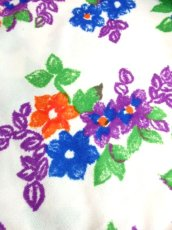 画像12: 花柄 ホワイト レトロ ヨーロッパ古着 長袖 シャツ ヴィンテージブラウス【7233】 (12)