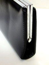 画像4: パーティースタイル レザー ブラック 上品 大人クラシカル レディース レトロ クラッチ 鞄 バッグ【7326】 (4)