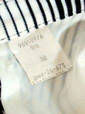 画像10: 斜めストライプ柄 ブラック 黒 ホワイト モノクロ レトロ ヨーロッパ古着 ヴィンテージスカート【7508】 (10)