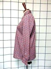 画像6: レトロ柄 70's 昭和レトロ 国産古着 長袖 シャツ ヴィンテージブラウス【7523】 (6)