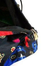 画像10: 80's アクセサリー柄 バッグ柄 ブラック カラーリングが素敵 レディース レトロ ヴィンテージ 鞄 バッグ【7549】 (10)
