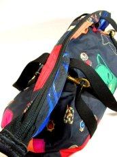 画像16: 80's アクセサリー柄 バッグ柄 ブラック カラーリングが素敵 レディース レトロ ヴィンテージ 鞄 バッグ【7549】 (16)