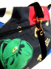 画像12: 80's アクセサリー柄 バッグ柄 ブラック カラーリングが素敵 レディース レトロ ヴィンテージ 鞄 バッグ【7549】 (12)