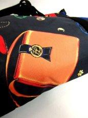 画像15: 80's アクセサリー柄 バッグ柄 ブラック カラーリングが素敵 レディース レトロ ヴィンテージ 鞄 バッグ【7549】 (15)
