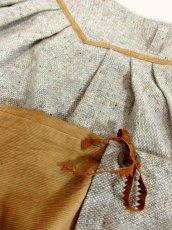 画像8: ツイード コーデュロイ レース リボン装飾 フォークロア調 レトロ ヨーロッパ古着 ヴィンテージスカート【7567】 (8)