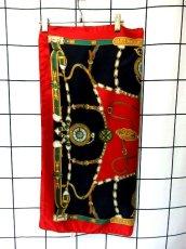 画像8: レトロアンティーク ヴィンテージスカーフ 時計柄 ヨーロッパ Italy【7593】 (8)