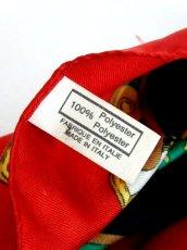 画像5: レトロアンティーク ヴィンテージスカーフ 時計柄 ヨーロッパ Italy【7593】 (5)