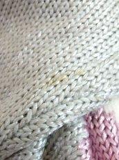 画像15: グレー ピンク ホワイト レトロ ヨーロッパ古着 ヴィンテージニットセーター【7633】 (15)
